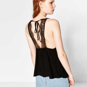 Zara Tie Back Lace Tank Top